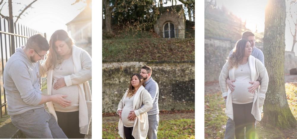 grossesse-lifestyle-séance photo-extérieur-chapelle royale Dreux
