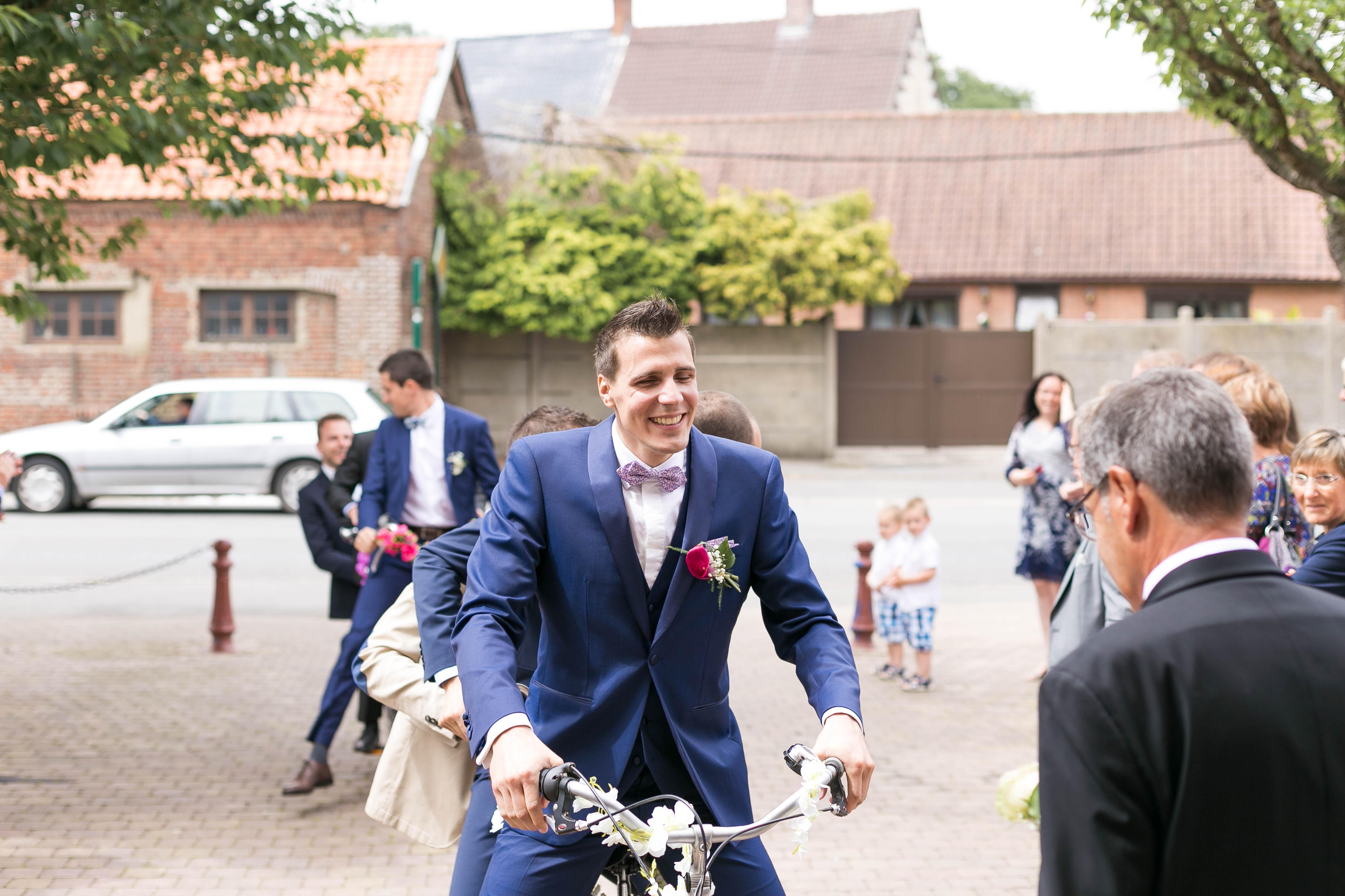 Mariage au chateau de rebreuve ranchicourt-nord pas de calais-Nord-mariage à vélo