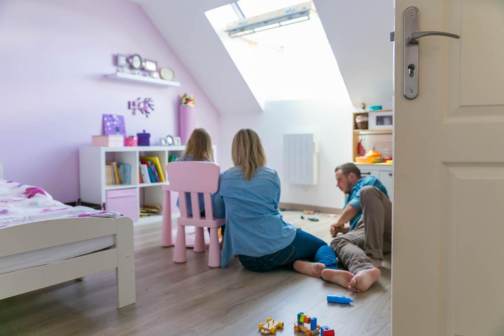 Séance famille à la maison - séance photo - famille - en intérieur