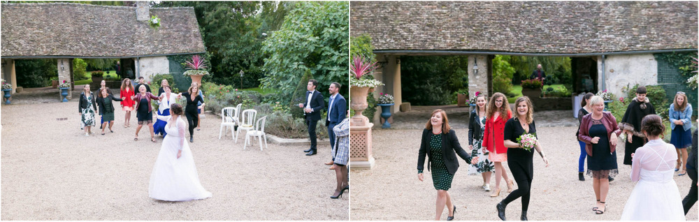 mariage au Domaine des Clos Vallées - enceinte - Yvelines - magicien - colombes - cocktail - vin d'honneur - bouquet de la mariée