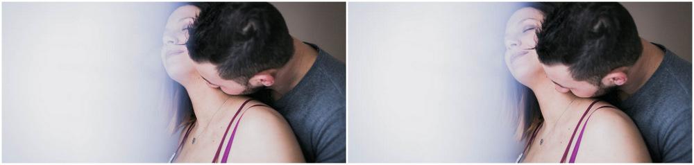 séance grossesse - couple - cocooning - studio lumière naturelle - enceinte - bidon rond - séance grossesse en studio