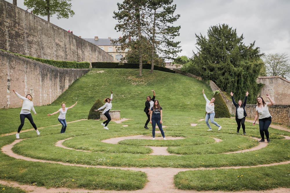 jardin en spirale - EVJF entre copines - chartres - folie - photographe chartres