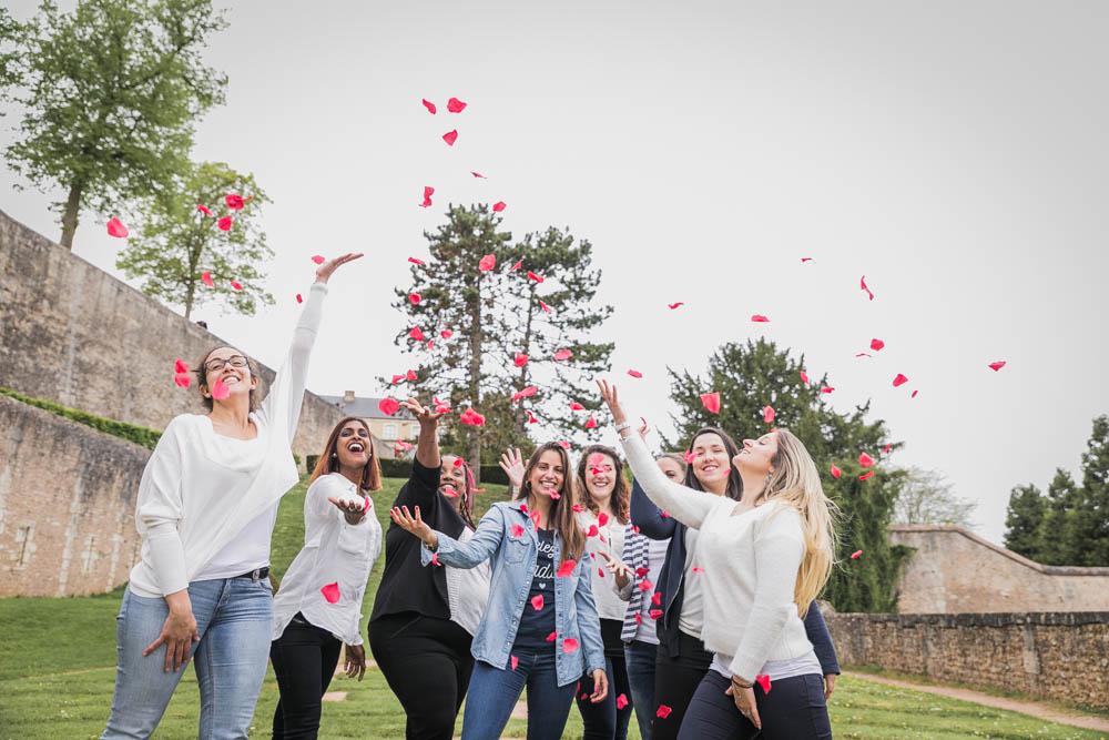 pétales de roses - mariage - EVJF - chartres - eure et loir - lancer de pétales