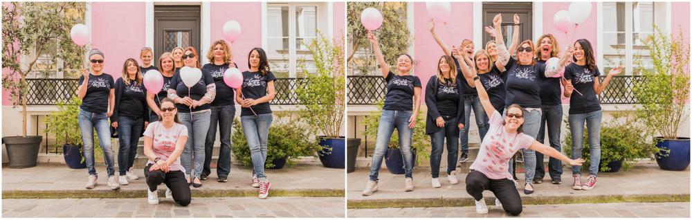ballons roses - girly - EVJF - maisons colorées - rue Crémieux - Paris