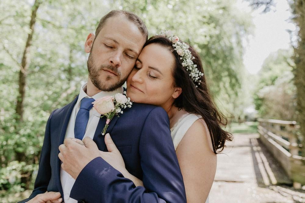 photographe mariage - eure et loir - chartres - mariage champetre - bucolique - couronne de fleurs