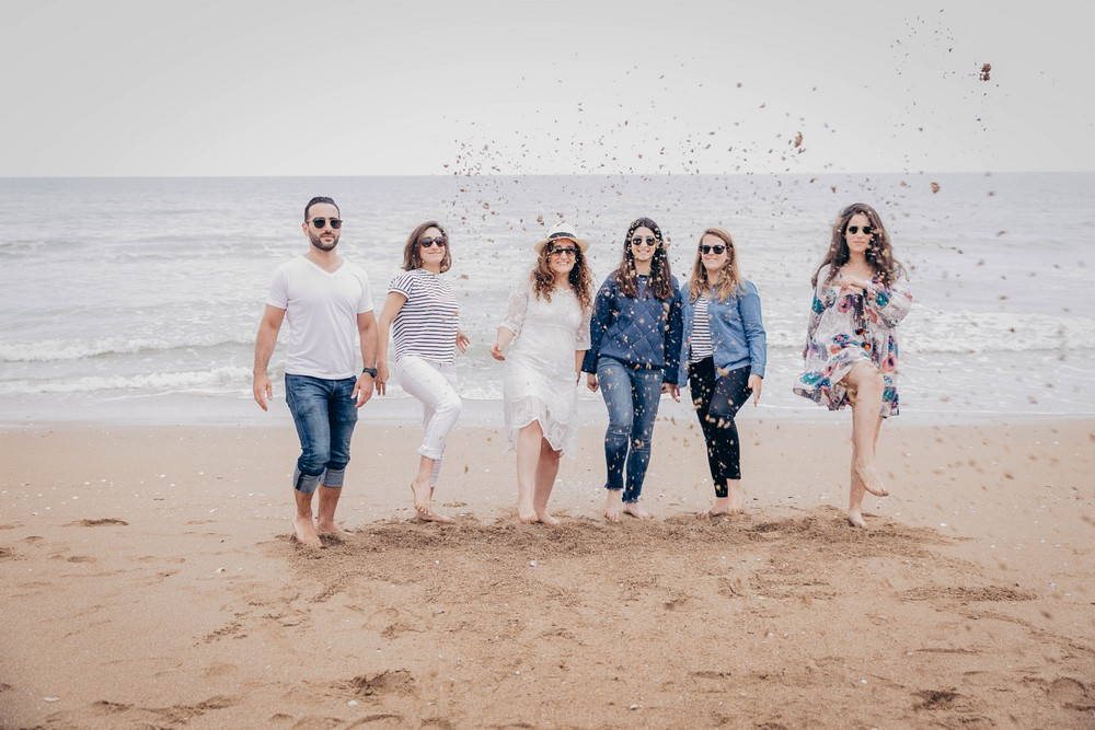 evjf entre filles - party on the beach - bride to be - france - normandie