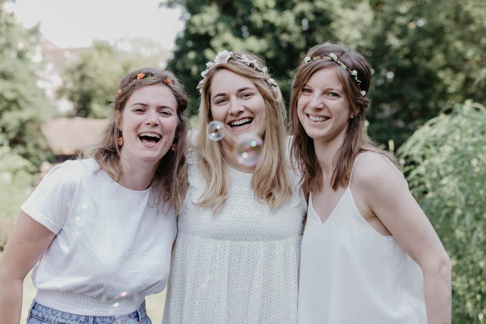 témoins de la mariée - evjf - bulles - fleurs - chartres - photographe eure et loir