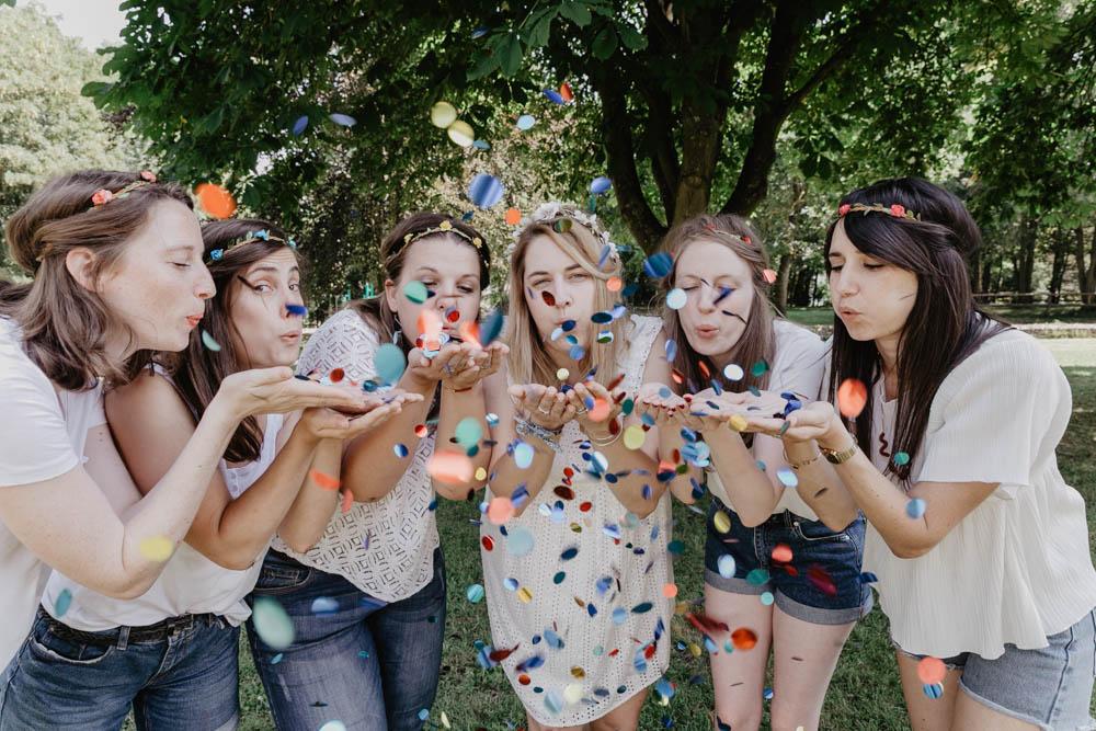 orne - eure - photographe evjf - confettis - mariage - evjf - eure et loir