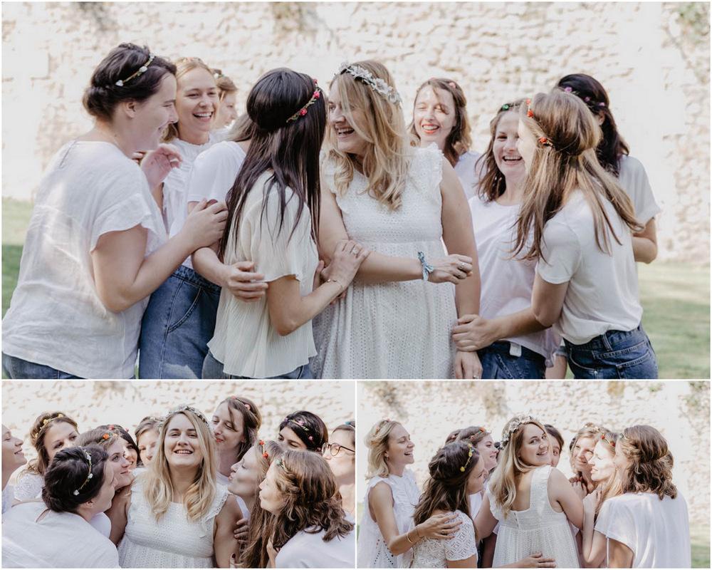 evjf romantique - fleurs - campagne - champetre - chartres - photographe - filles