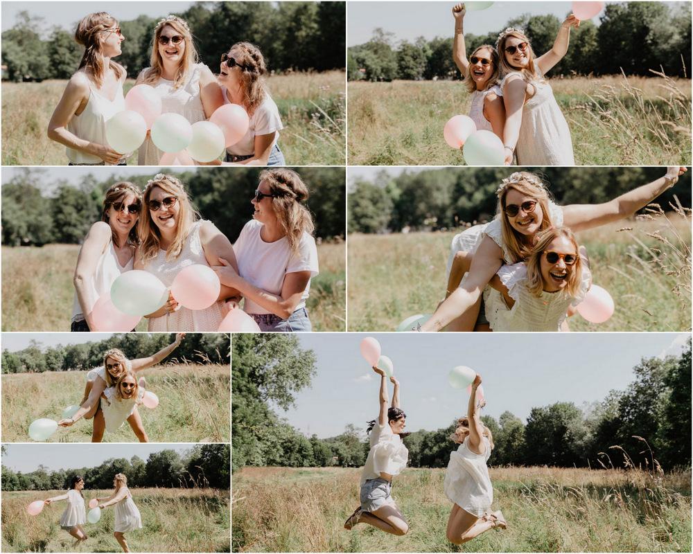 champs de blés - chartres - ballons - juillet - evjf champetre- de folie - photographe eure et loir