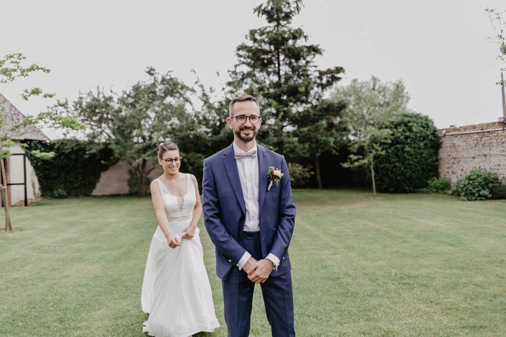 premier regard - mariage champetre - photographe mariage eure et loir - yvelines - instant decouverte des maries