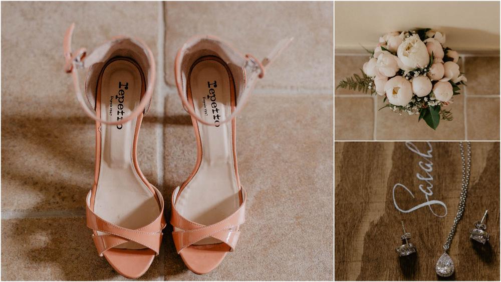 chaussures mariee repetto - bouquet de la mariee - bijoux de la mariee - photographe mariage - eure et loir - chartres - perche - photographe mariage eure
