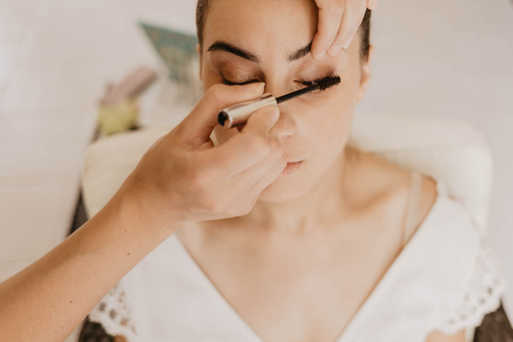 mascara - maquillage mariee - mariage champetre chic boheme - photographe mariage - chartres - verneuil sur avre - evreux