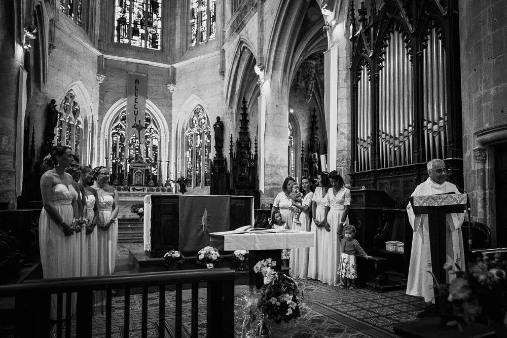 eglise st michel - pont l'eveque - calvados - photographe mariage normandie - mariage champetre en normandie - ceremonie religieuse