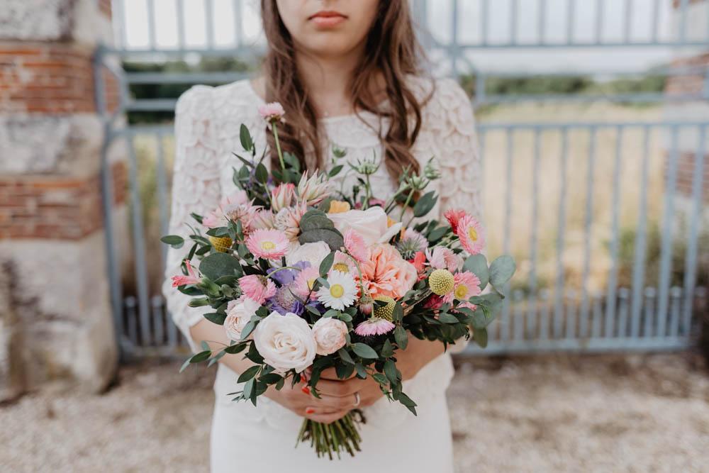 bouquet de la mariée - mariage champetre - normandie - photographe mariage - evreux - grange de renneville
