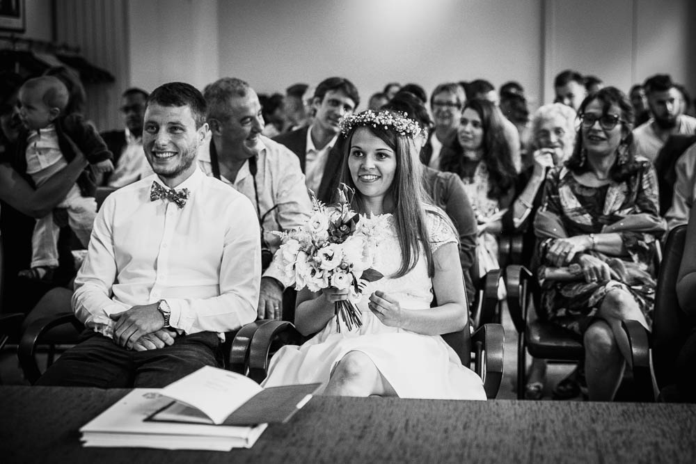 mariage dans le calvados - photographe mariage en normandie - mairie de pont l'eveque