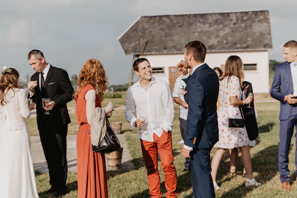mariage à la grange de renneville - cocktail - evreux - mariage champetre