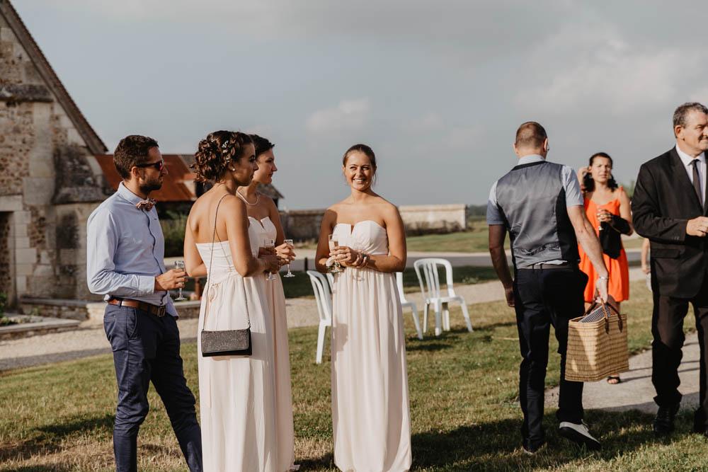 coktail - grange de renneville - eure - evreux - demosielles d'honneur - mariage champetre