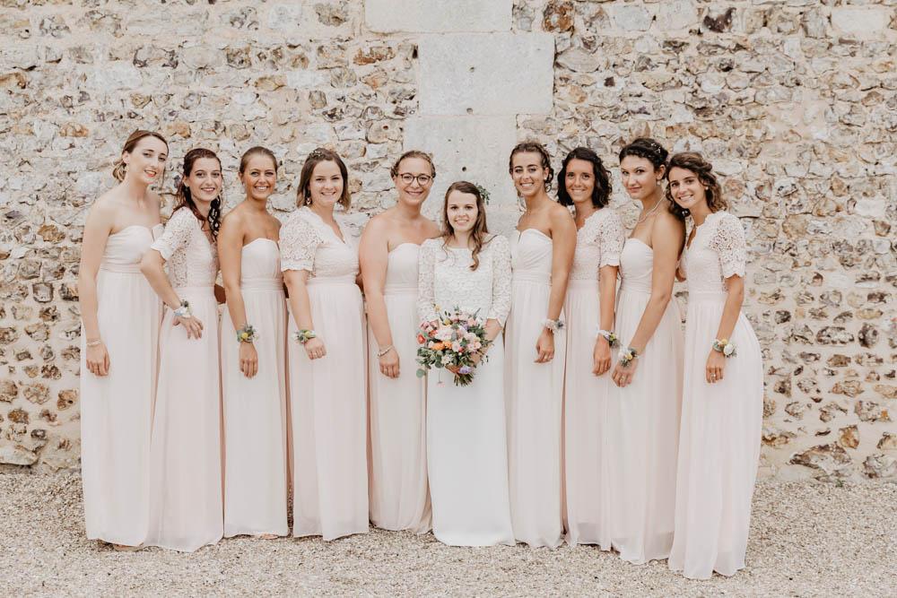demosielles d'honneur - dress code - mariage champetre en normandie - champetre chic - boheme - photographe mariage evreux