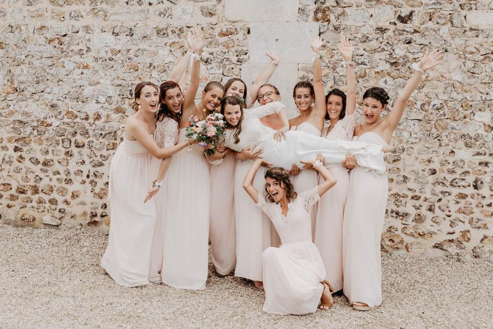 team bride - demoiselles d'honneur - mariage champetre - chic - boheme - photographe mariage evreux - eure
