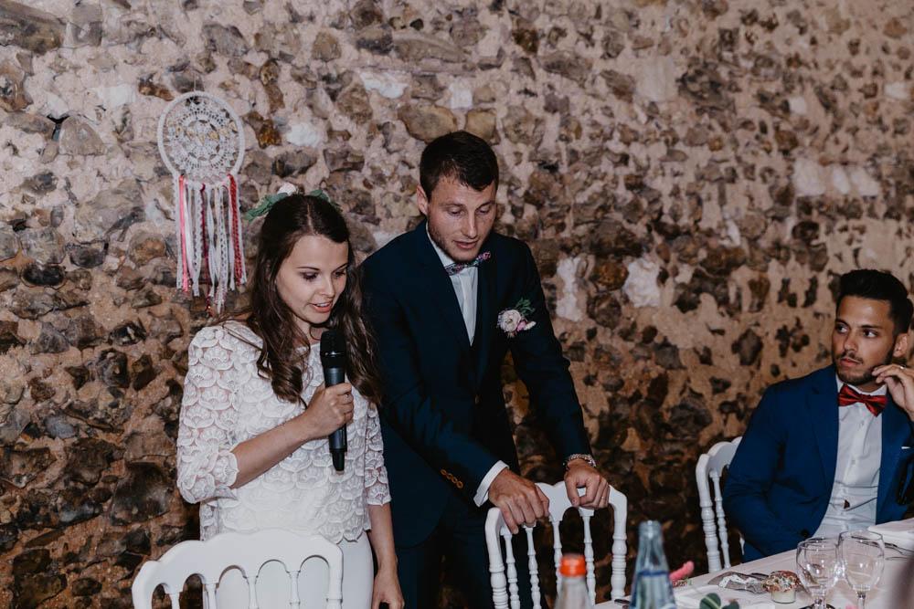 discours des mariés - mariage champetre - photographe mariage eure - evreux - repas de noces