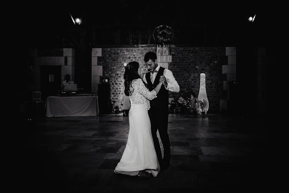 ouverture de bal des mariés - first dance - la première danse - mariage champetre - photographe mariage rouen