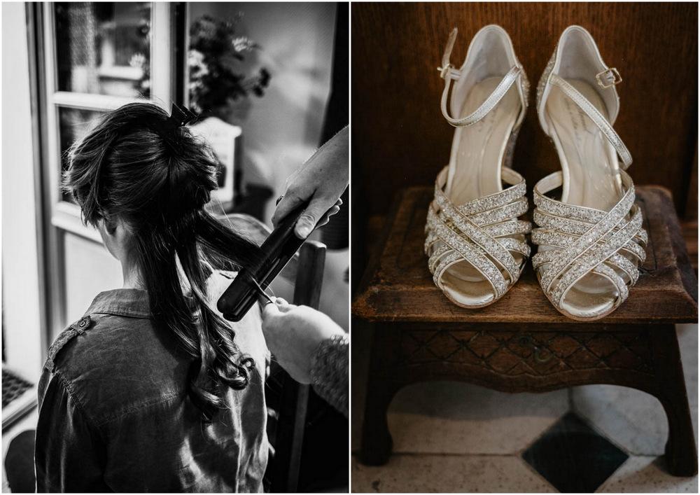 chaussures de la mariée - préparatifs de la mariée - photographe mariage en normandie - calvados - eure