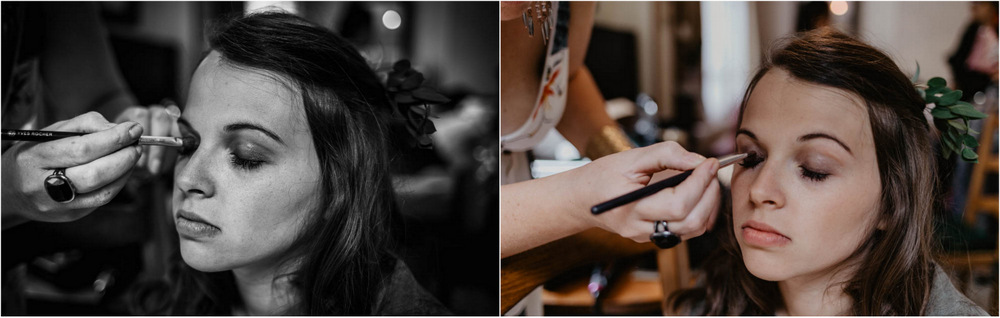 maquillage de mariée - en normandie - mariage boho chic - photographe mariage eure