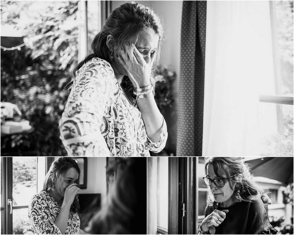 Préparatifs de la mariée - émotions dans un mariage - mariage en normandie - photographe mariage evreux - eure