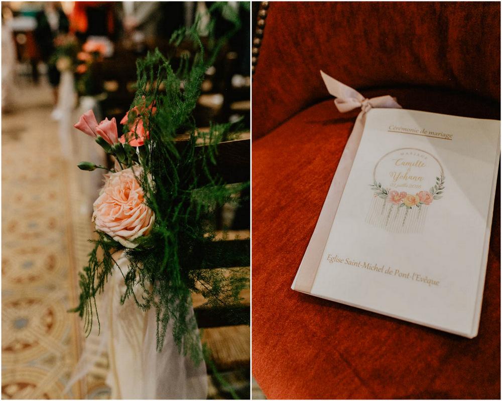 cérémonie religieuse - eglise de pont l'eveque - mariage en normandie - photographe mariage calvados