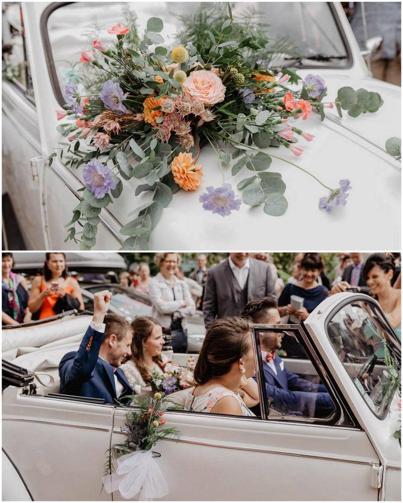 mariage champetre en normandie - photographe mariage calvados - eure - evreux - coccinelle beige