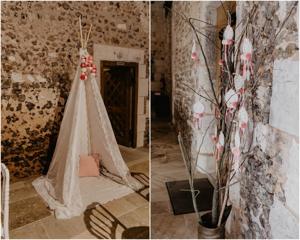 grange de renneville - déco mariage champetre - boheme - chic - photographe mariage en normandie