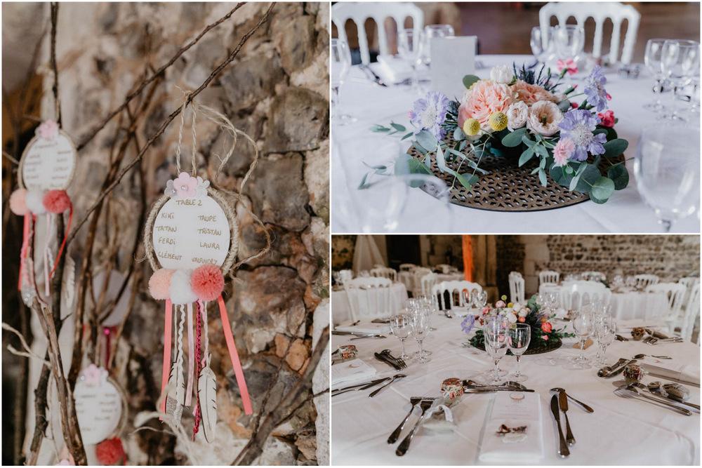 centre de table - mariage champetre - fleurs - grange de renneville - evreux - rouen