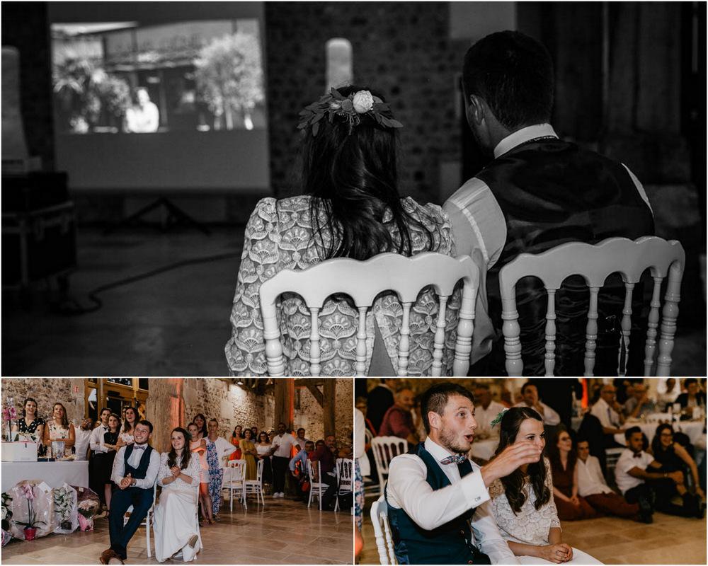 animation soirée de mariage - grange de renneville - diaporama - retroprojecteur - photographe mariage evreux