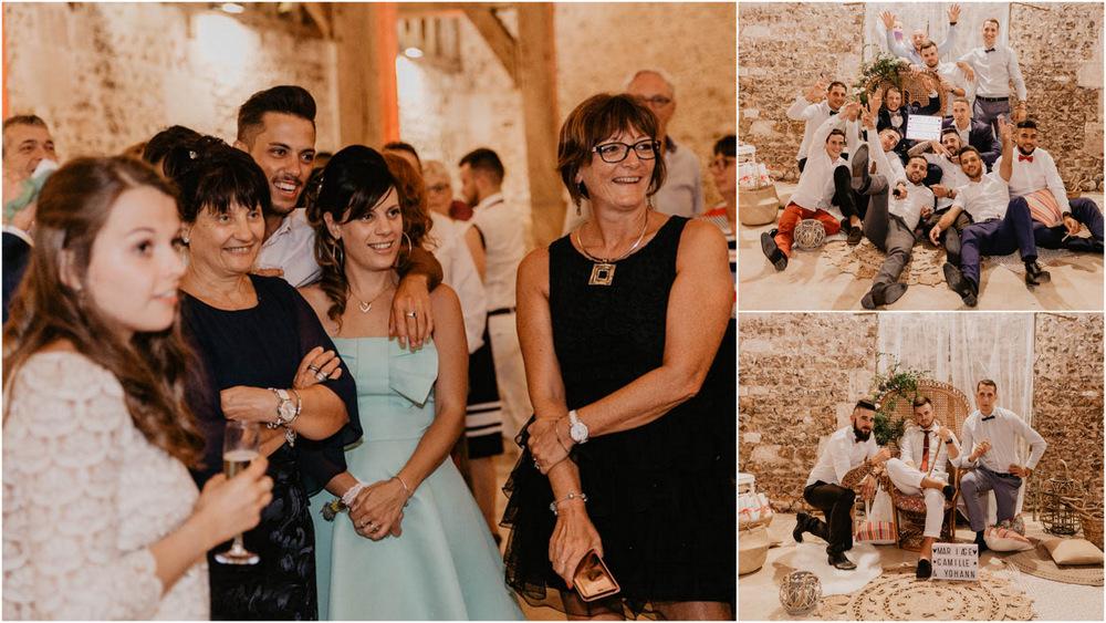 ambiance soirée - mariage - décoration mariage boheme - champetre chic - grange de renneville - photographe mariage eure