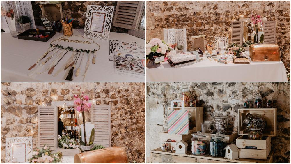 photographe mariage eure - grange de renneville - décoration de salle - mariage champetre - boheme