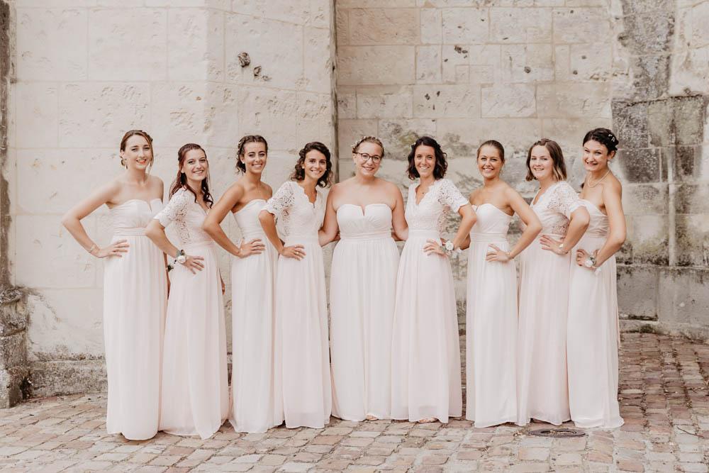 demoiselles d'honneur - eglise de pont l'eveque - mariage champetre en normandie - mariage boheme - photographe mariage calvados