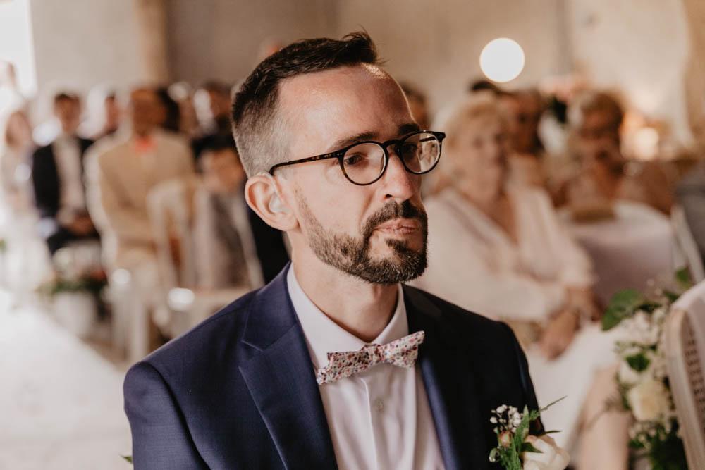 emotions - larmes - mariage laique - ceremonie laique - champetre - eure et loir