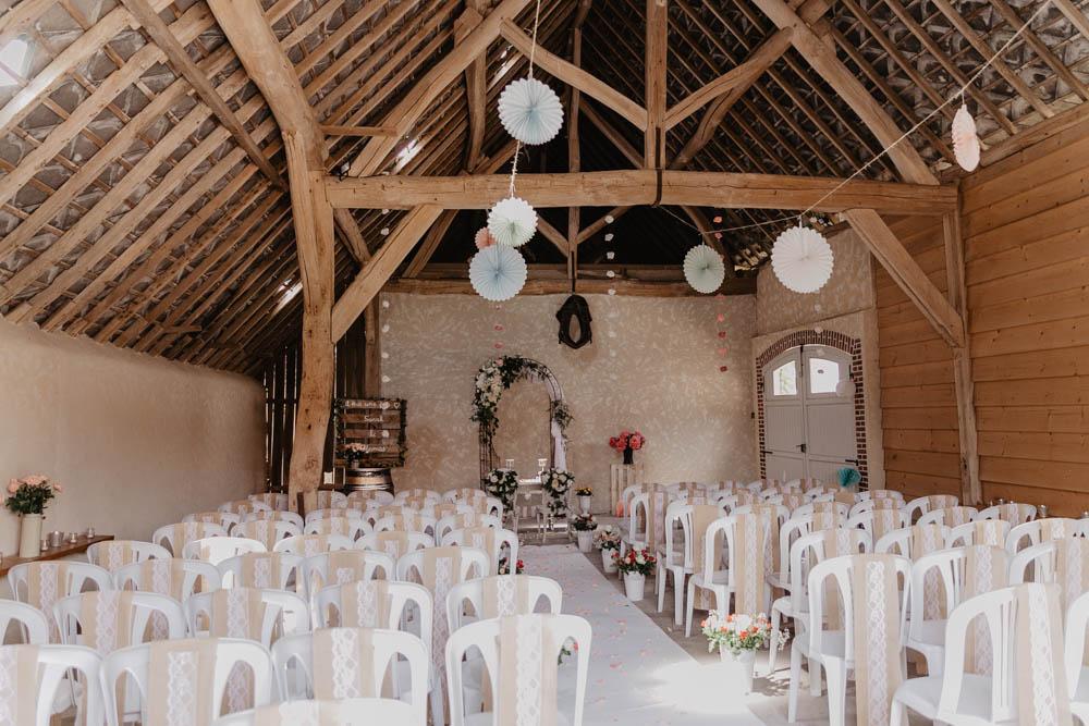 chartres - photographe mariage - orne - yvelines - champetre - grange - wood - cérémonie laique