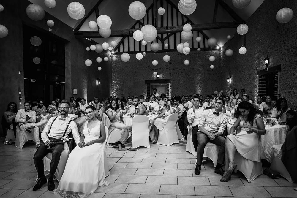 noir et blanc - soiree de mariage - animation retroprojecteur - diaporama - photographe mariage yvelines - eure et loir