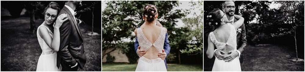 mariage champetre - mariage en eure et loir - chartres - photographe mariage - photo des maries - en noir et blanc