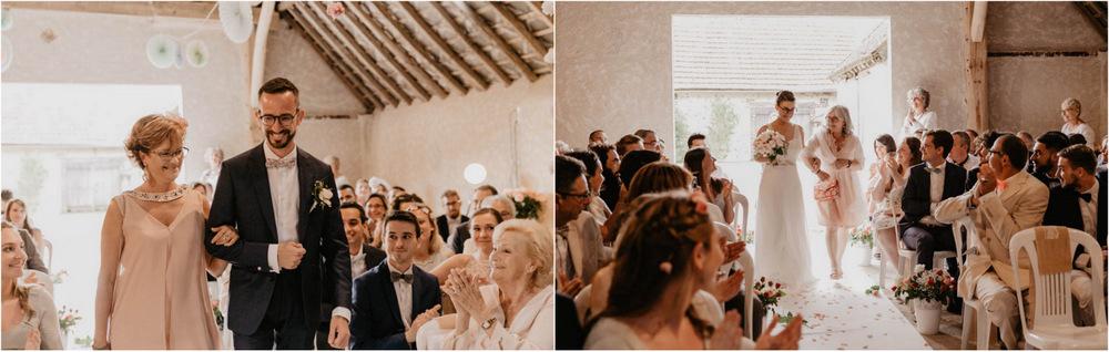 photographe mariage - ceremonie laique - mariage champetre - eure et loir - arrivee des maries