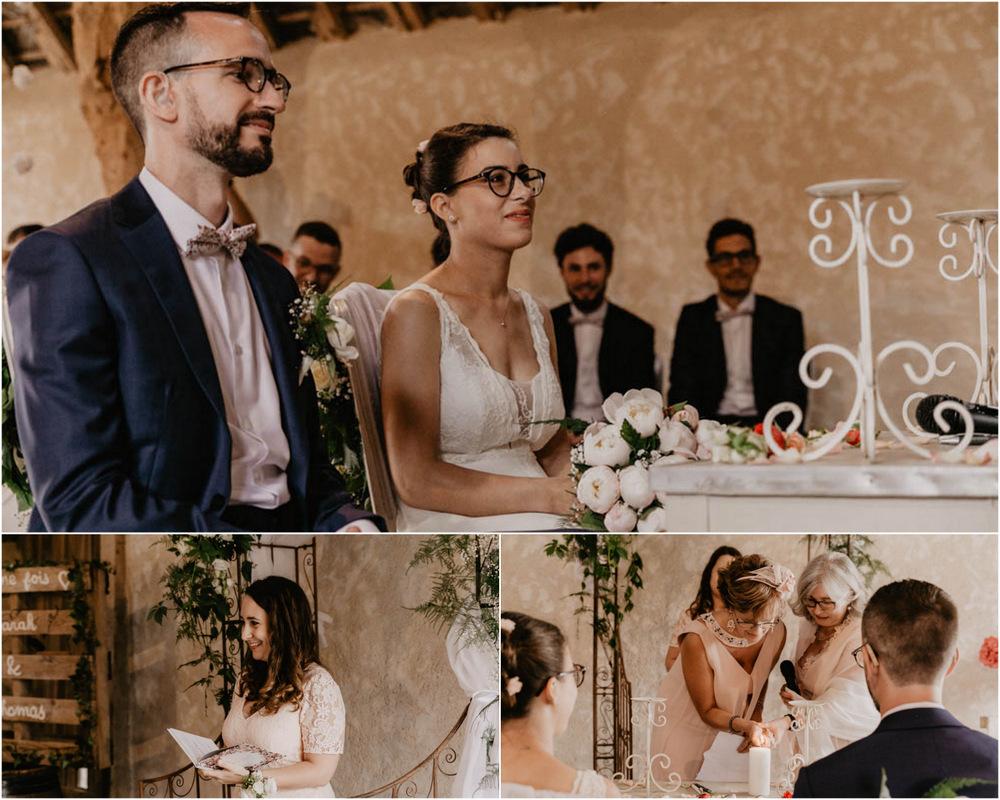 rituel des bougies - ceremonie laique - champetre - mariage en eure et loir- photographe mariage