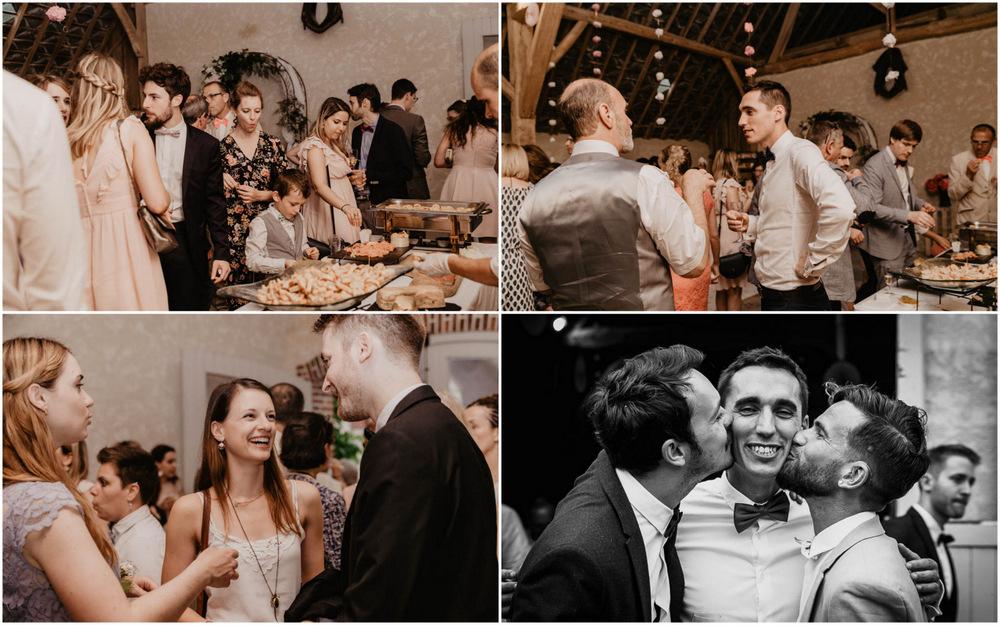 cocktail - photo de groupes - vin d'honneur - champetre - grange - bois - eure et loir - yvelines