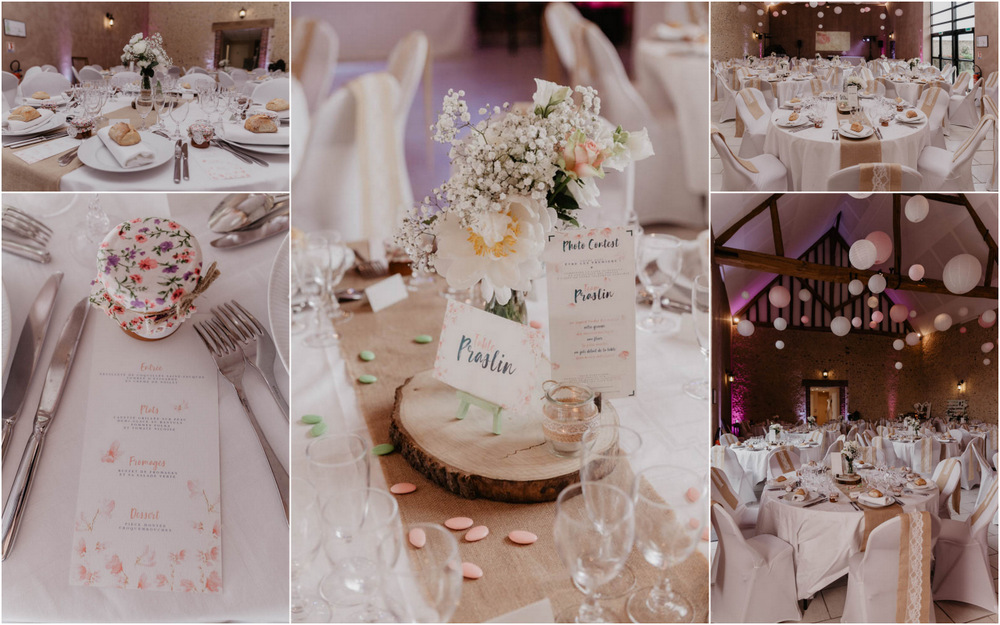 theme voyage - mariage champetre - deco de salle - ferme de fouville - yvelines - eure et loir - photographe mariage 78