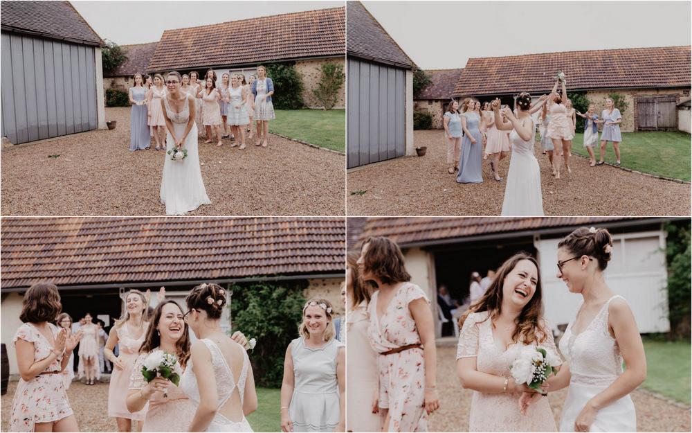 champetre - lancer de bouquet - pivoines - photographe mariage eure et loir - chartres - perche