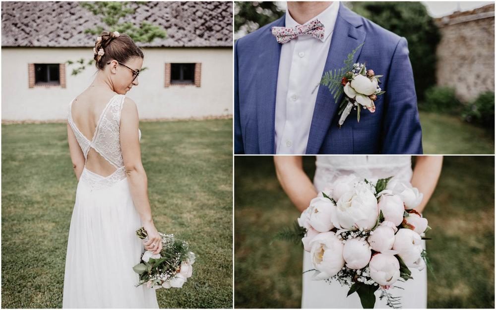 photographe mariage eure - bouquet de la mariee - pivoines - champetre - photographe mariage perche - orne - eure et loir - bretagne
