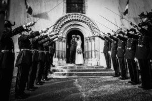 photographe mariage - chateau de courtalain - eure et loir - eglise - cérémonie religieuse - perche - armée - école polytechnique - polytechnicien