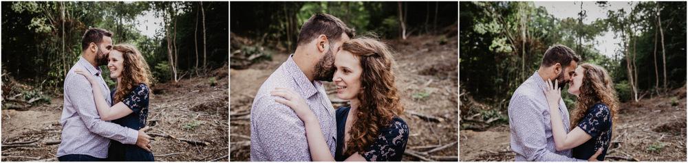 mariage - en foret - photographe eure et loir - seance engagement - campagne - nature