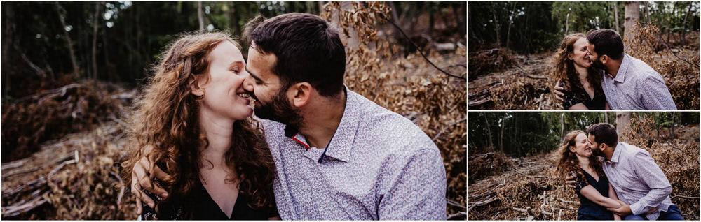 rousse - foret - bois - photographe mariage - une seance engagement - naturel